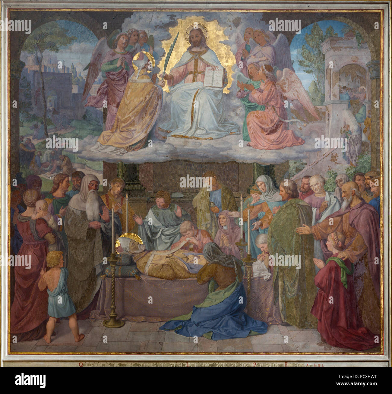 Erbaut von Ernst Zwirner, Fresko an der Ostwand des nördlichen Querhauses Stockbild