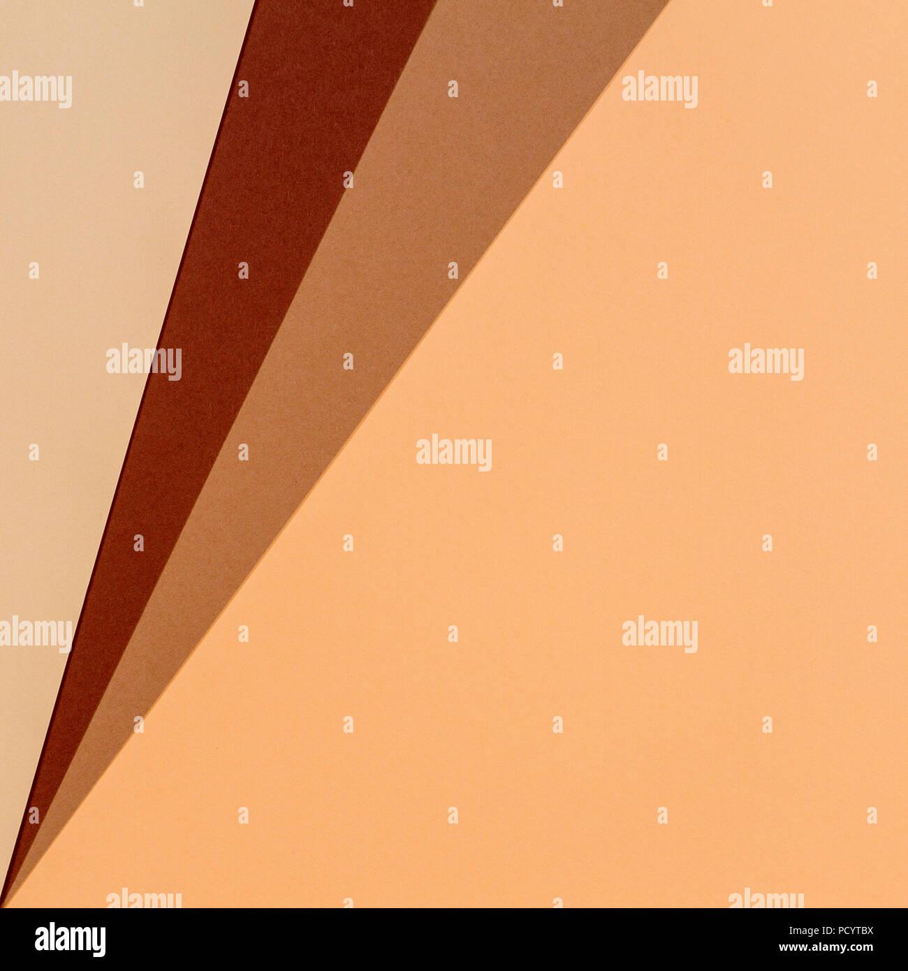 Farbe Papiere Geometrie Zusammensetzung Hintergrund In Beige Und