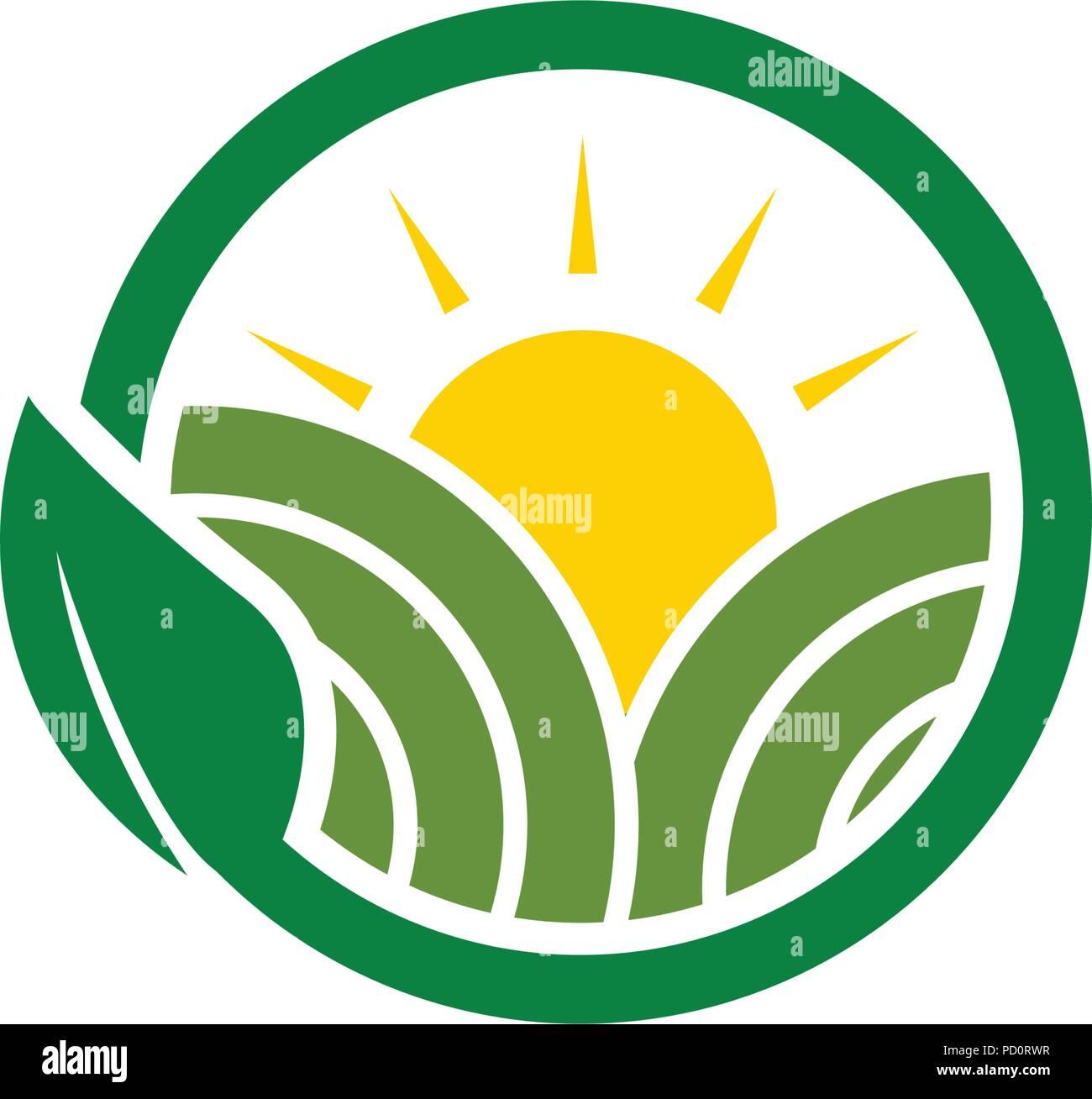 Sauber Agrar Landwirtschaft Logo Design Konzept Vorlage