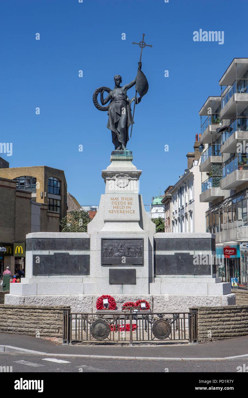 Folkestone Kriegerdenkmal, Erinnerung Straße. Stockfoto
