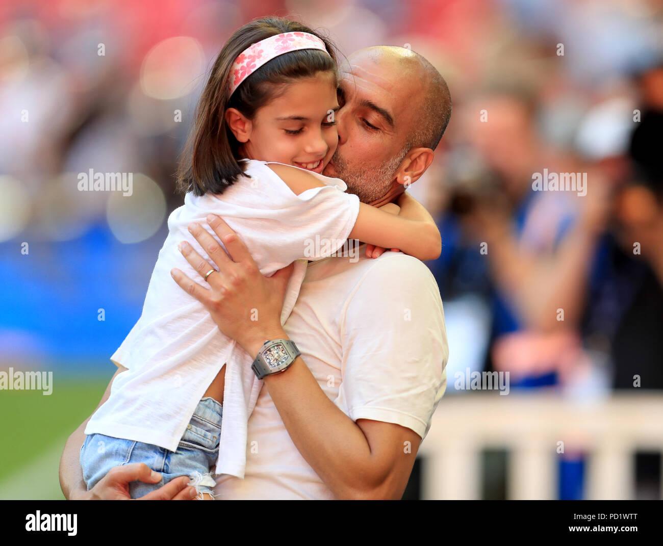 Pep Guardiola And Valentina Stockfotos und -bilder Kaufen - Alamy