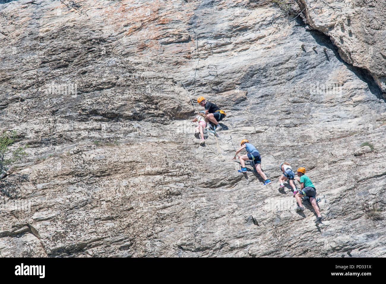 Klettersteig Englisch : Eine englische familie auf urlaub in l argentierre la bessee