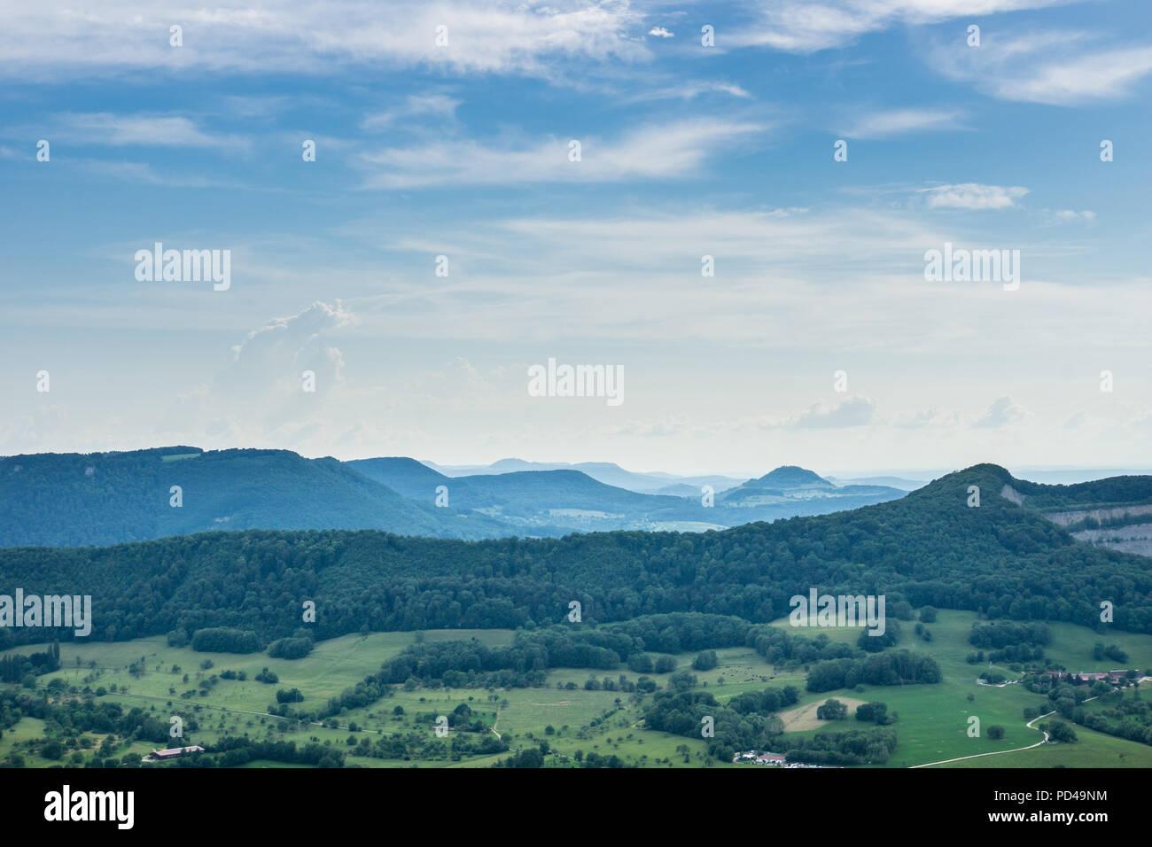Deutschland, endlose Hügel der Schwäbischen Alb Natur Landschaft in der Nähe von Stuttgart Stockbild