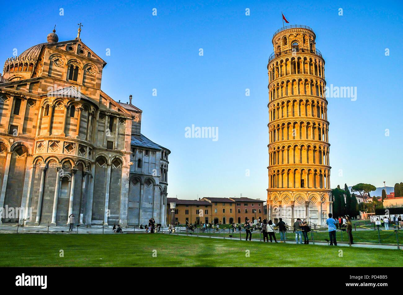 Der schiefe Turm von Pisa Stockbild