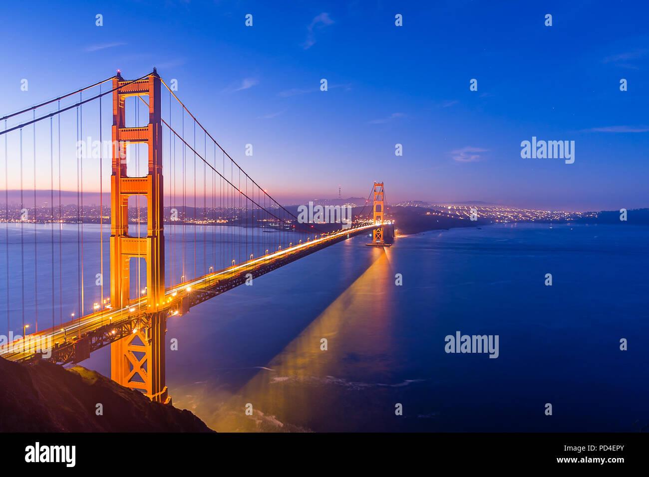 Blaue Stunde von der Batterie Spencer Stockbild