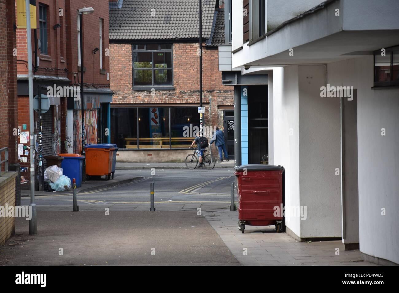 Manchester City Centre, street photography, Alltag Stockbild