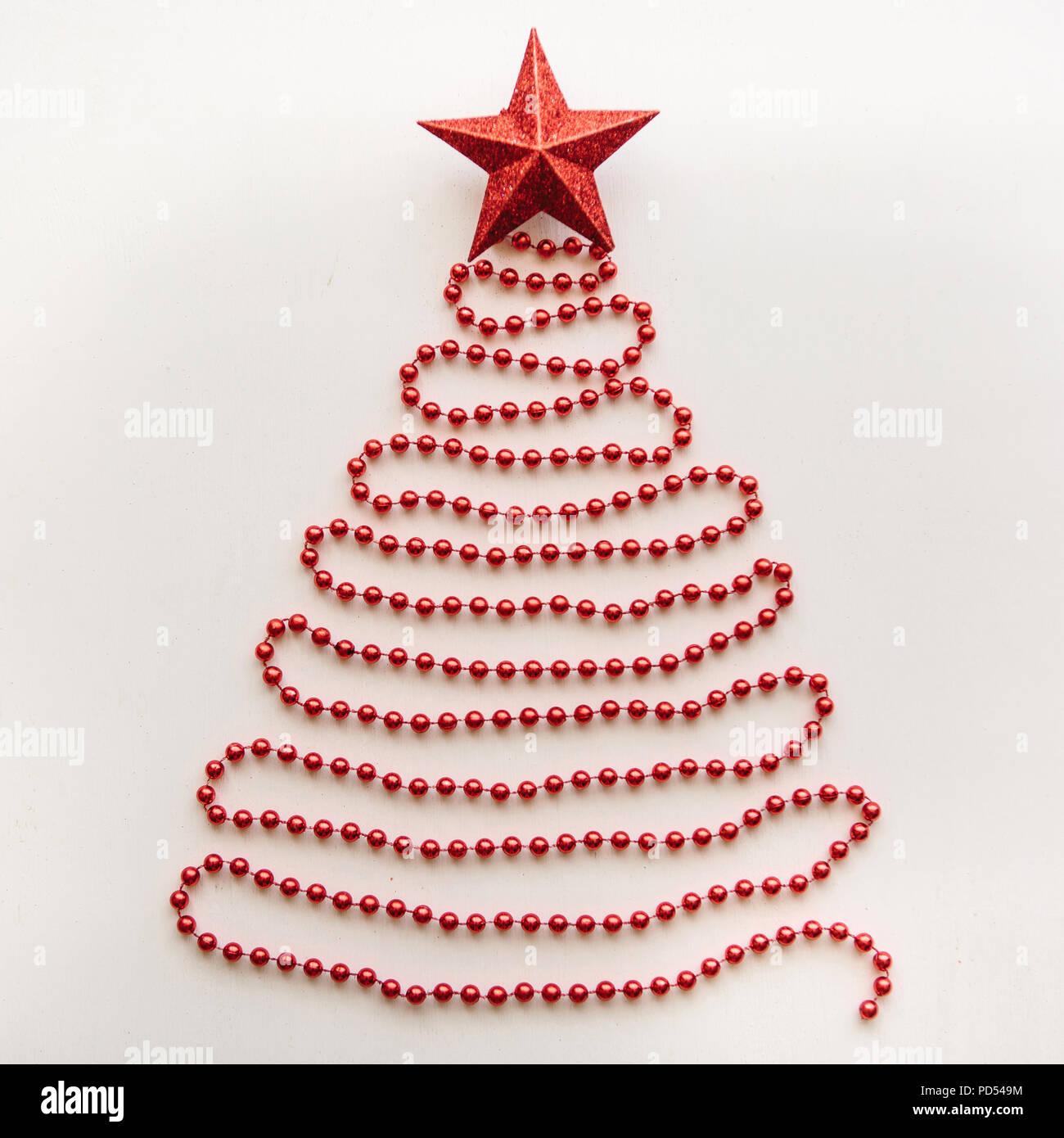 Spitze Für Tannenbaum.Kreative Idee Im Minimalistischen Stil Für Weihnachten Oder Neujahr