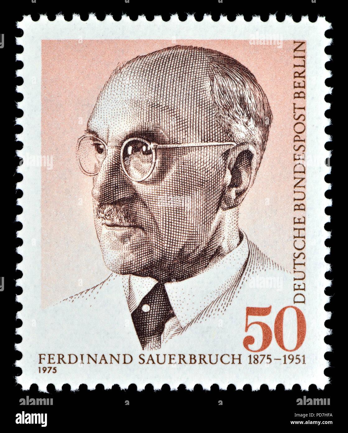 Deutschen Briefmarke Berlin 1975 Ernst Ferdinand Sauerbruch