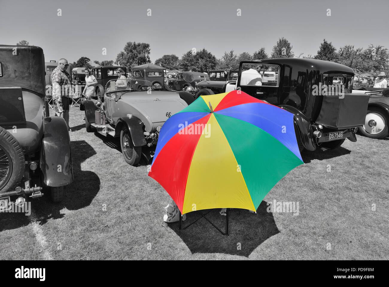 Hooe die Oldtimer Show, East Sussex, England, Großbritannien Stockbild