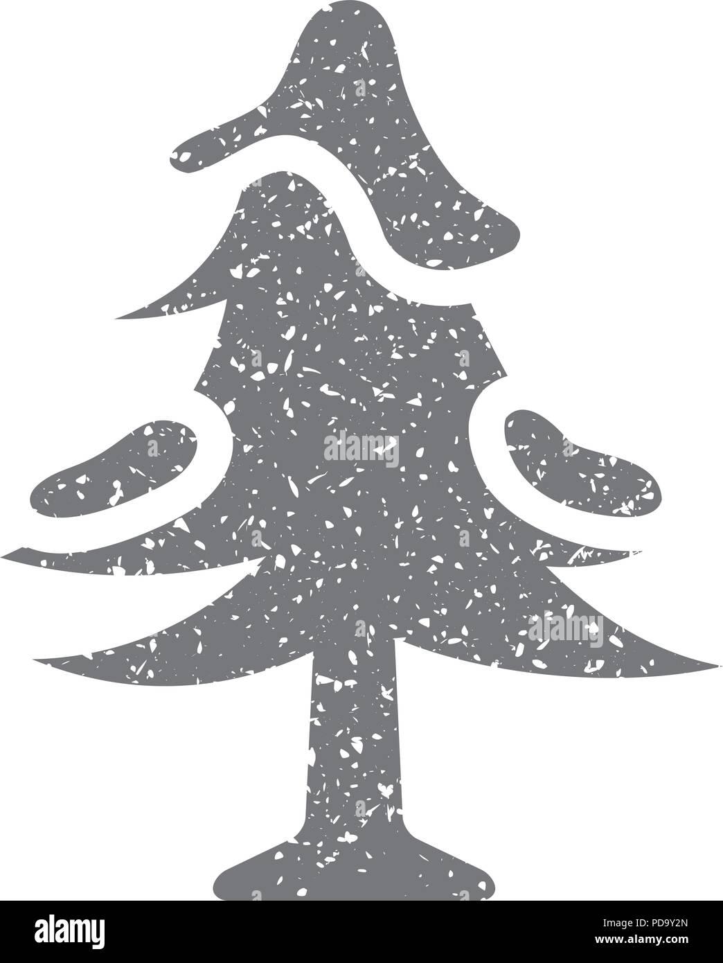 Grunge icon-Baum Stock Vektor