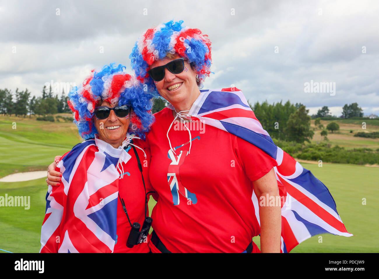Gleneagles Schottland Großbritannien 9 August 2018 Zwei Freunde