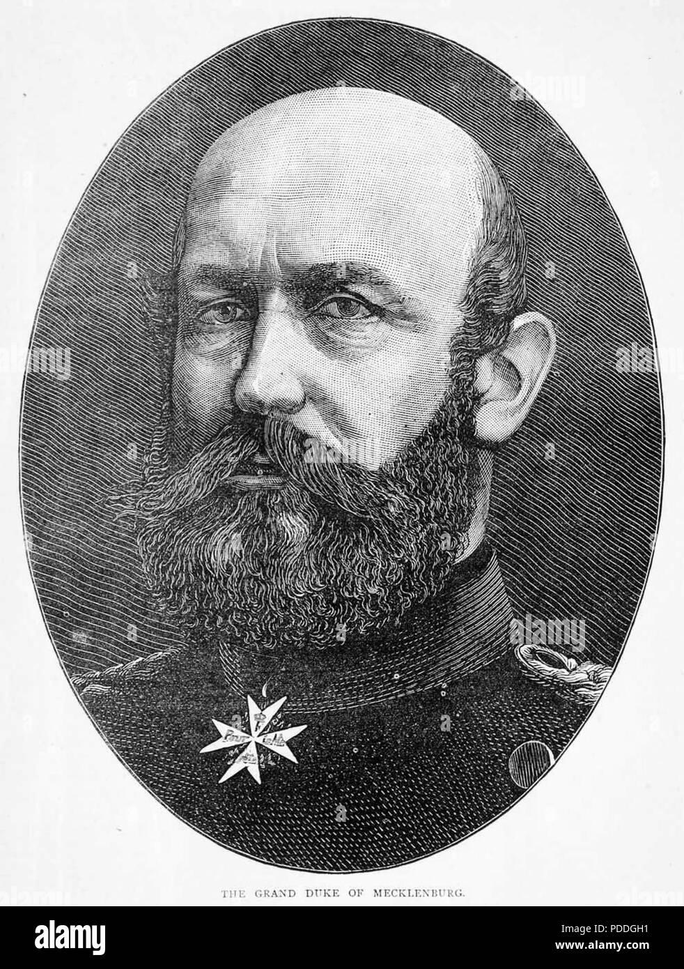 HERZOG JOHANN ALBRECHT von Mecklenburg (1857-1920) Stockbild