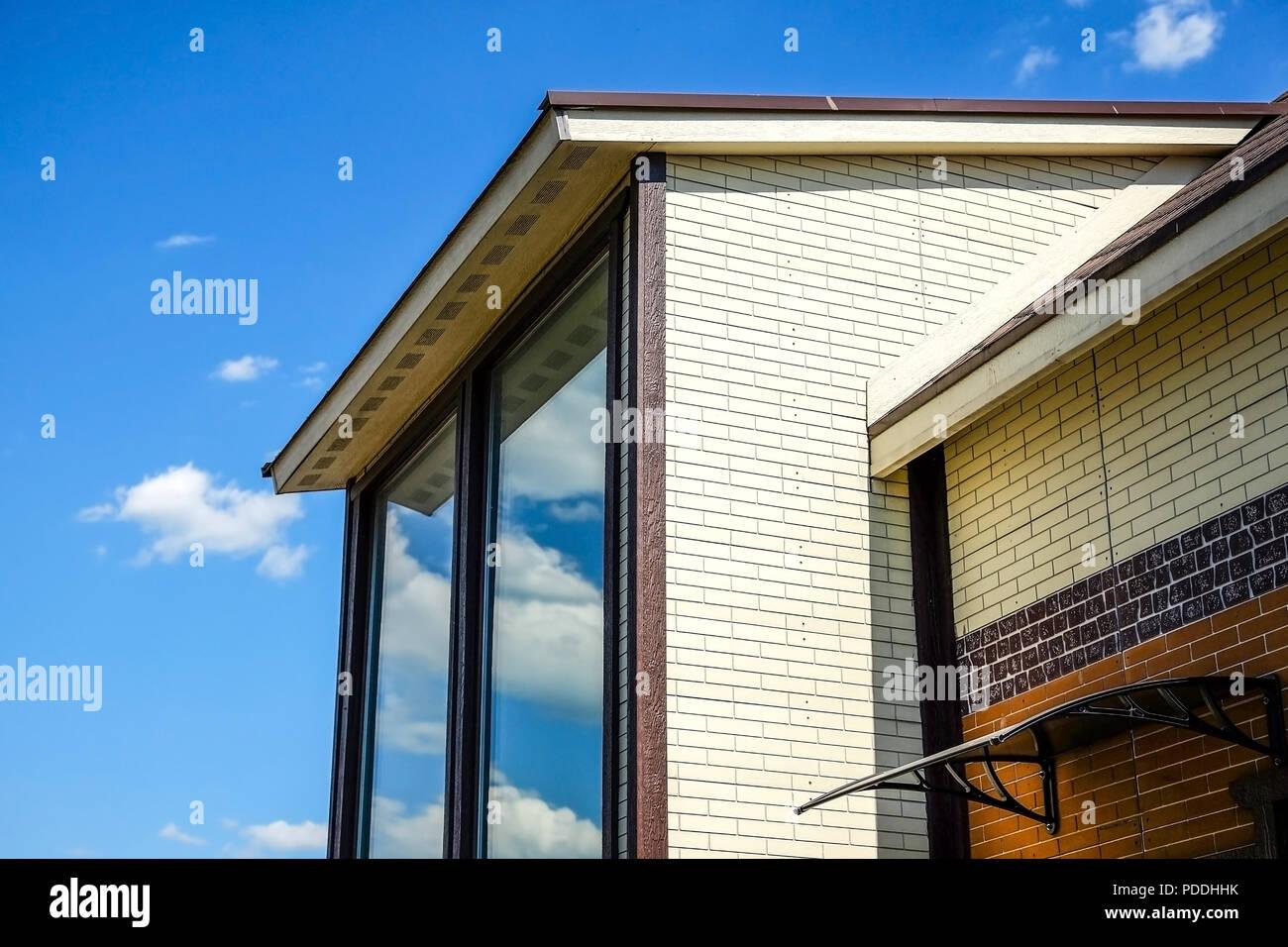 Ferienhaus Mit Panoramablick Auf Das Grosse Fenster Verglasung Der