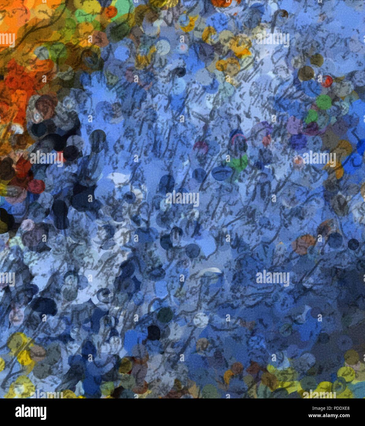 Moderne Malerei Wand Kunst Dekor. Abstrakte Zeichnung Hintergrund ...