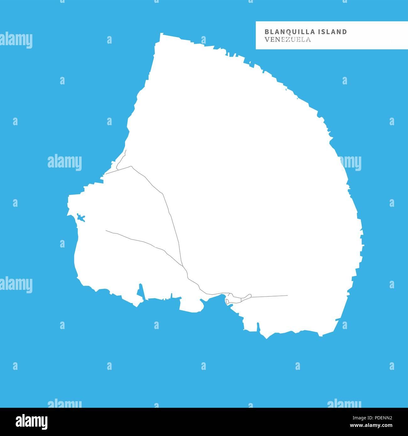 Karte Island Drucken.Blanquilla Island Drucken Karte Stockfotos Blanquilla