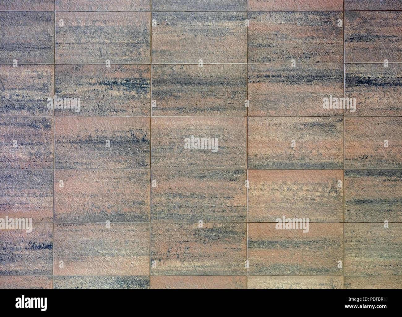Die Wand Ist Aus Stein Blocke Unter Granit Naturstein Textur Braun