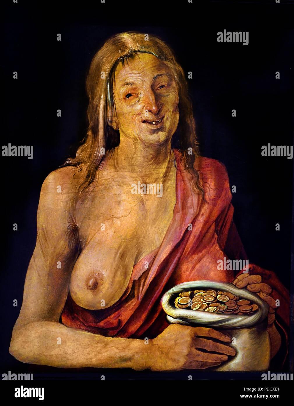 Allegorische Frauenfigur 1507 Albrecht Dürer 1471 - 1528 Deutscher Deutschland Stockbild