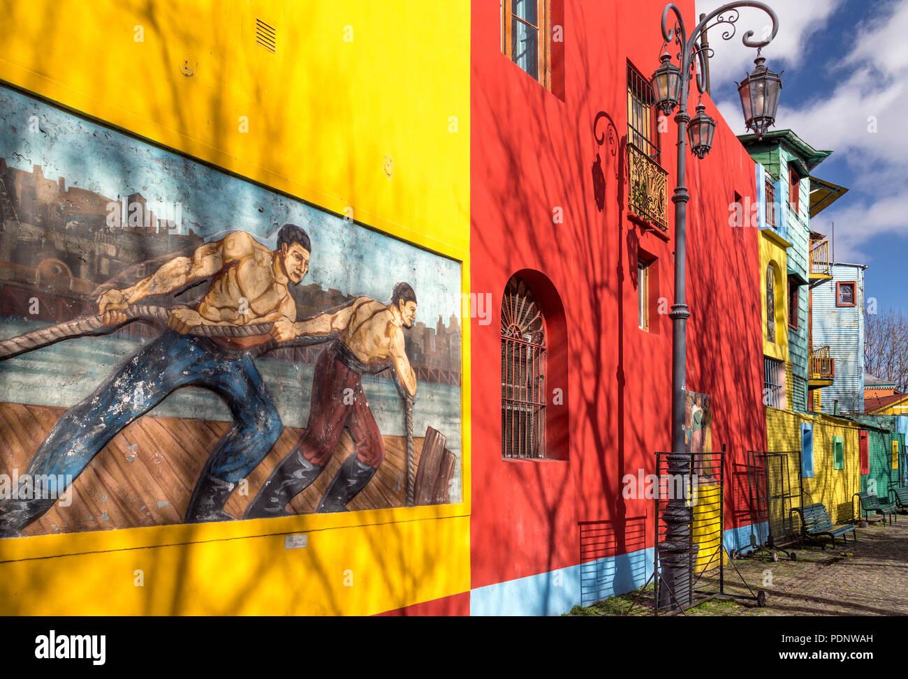 Caminito. La Boca, Buenos Aires, Argentinien Stockbild