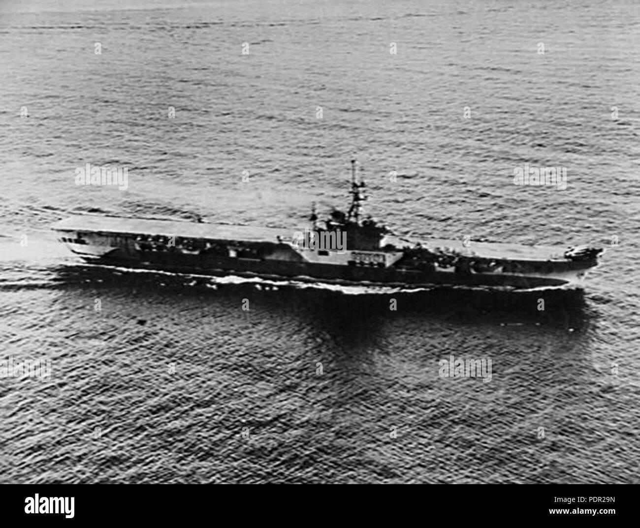 59 HMS Colossus (R15) aus Shanghai 1945 Stockbild