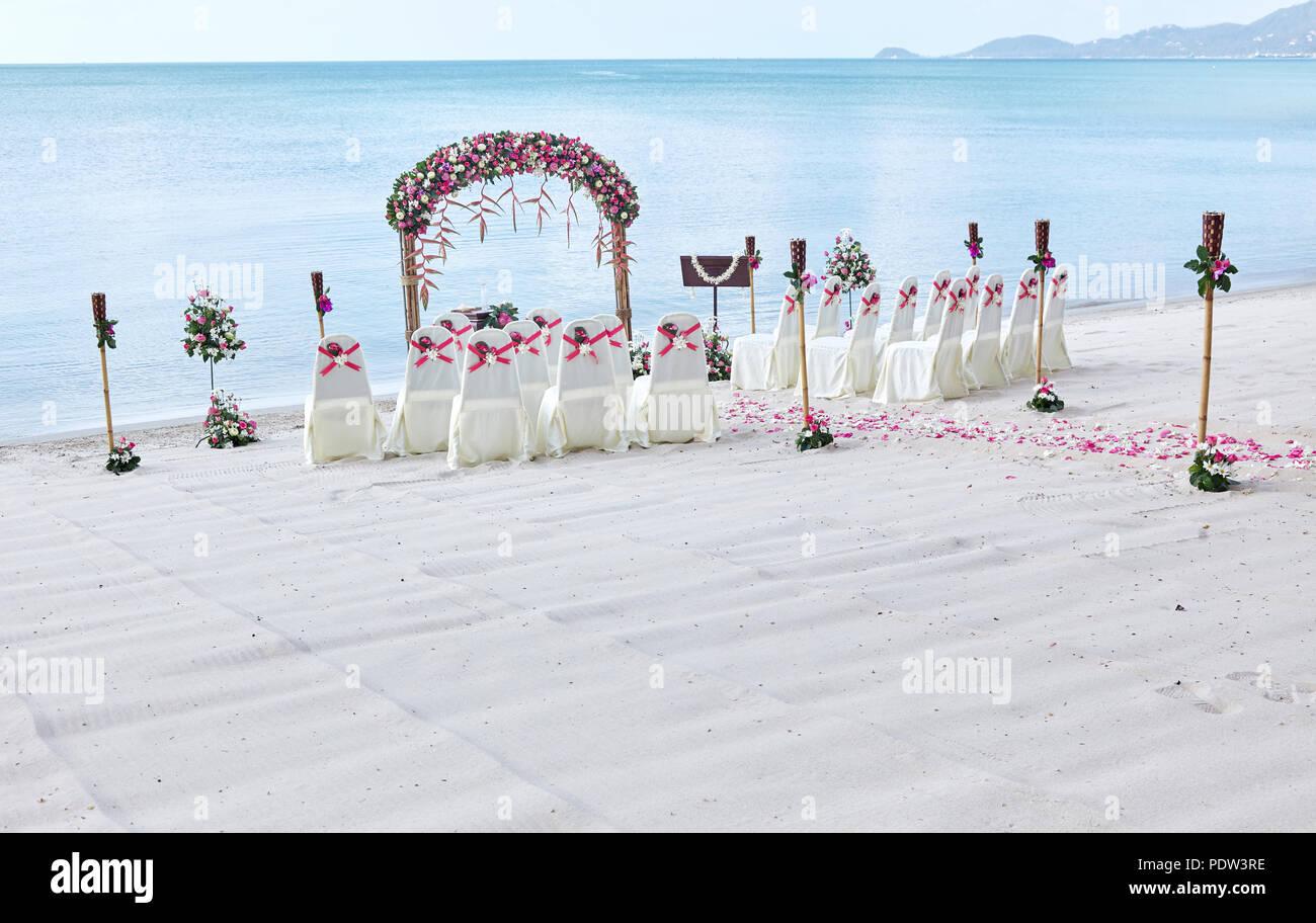 Romantische Hochzeit Am Strand Veranstaltungsort Einstellungen Am