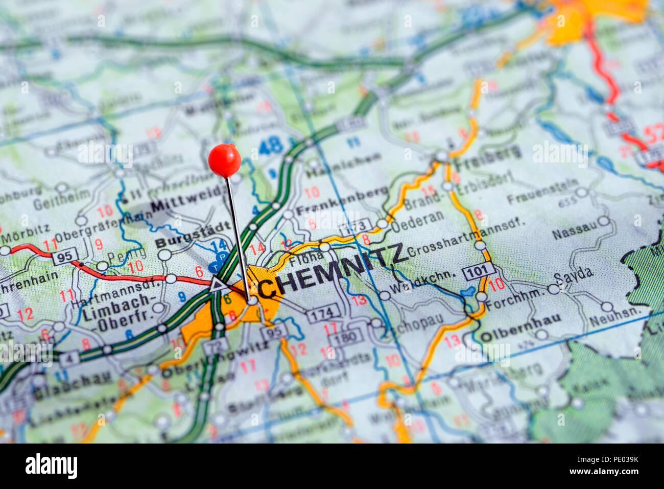 Karte Chemnitz.Stockholm Schweden 07 April 2018 Europaische Stadte Auf
