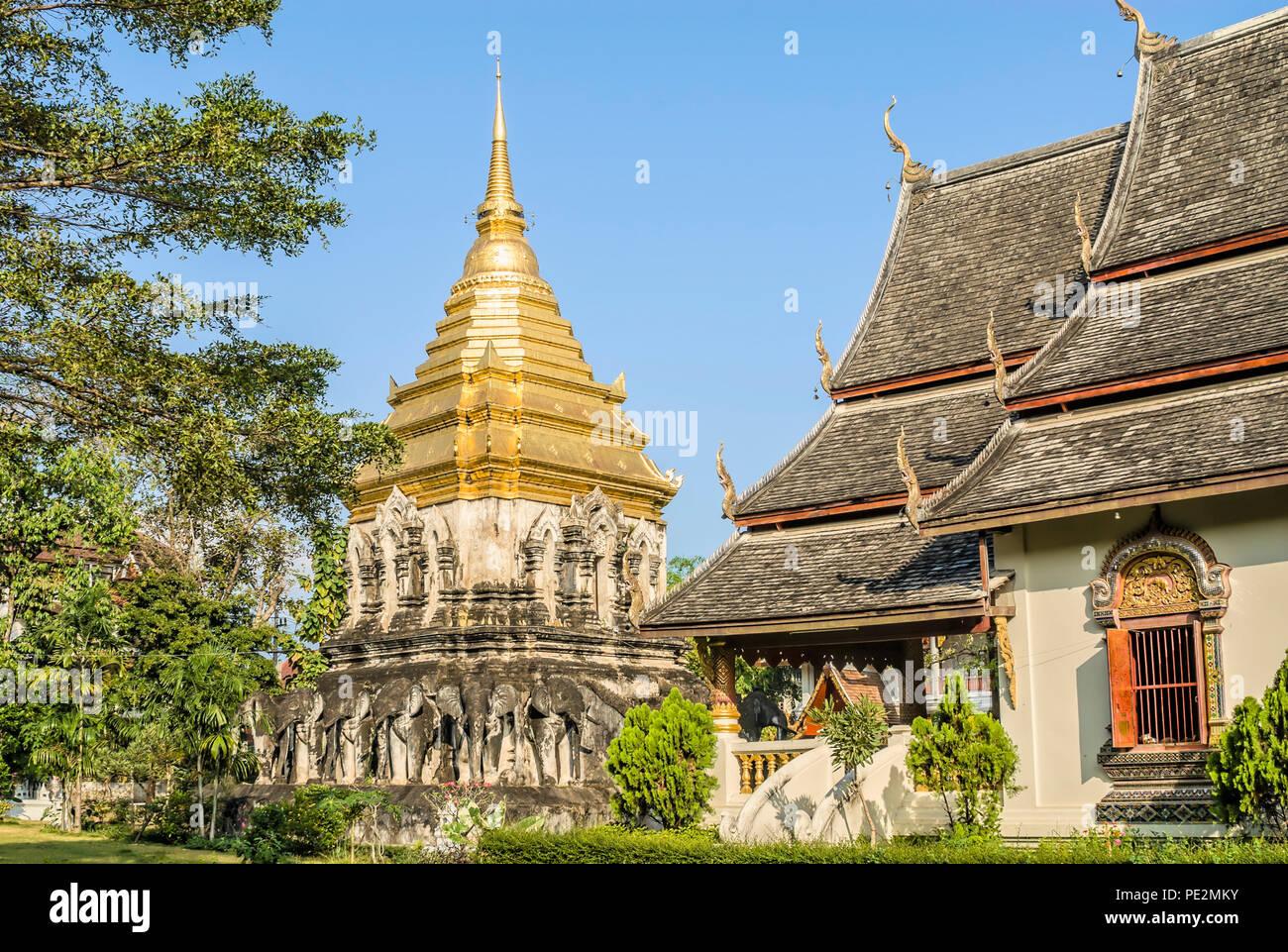 Wat Chiang Man, Chiang Mai, Thailand Stockbild