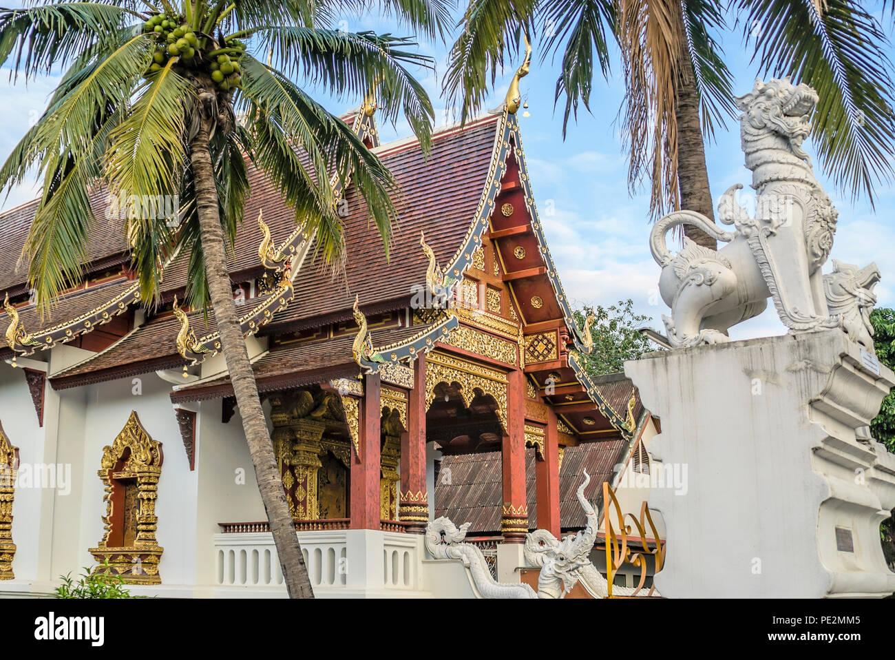 Wat Chang Taem, Chiang Mai, Thailand Stockbild
