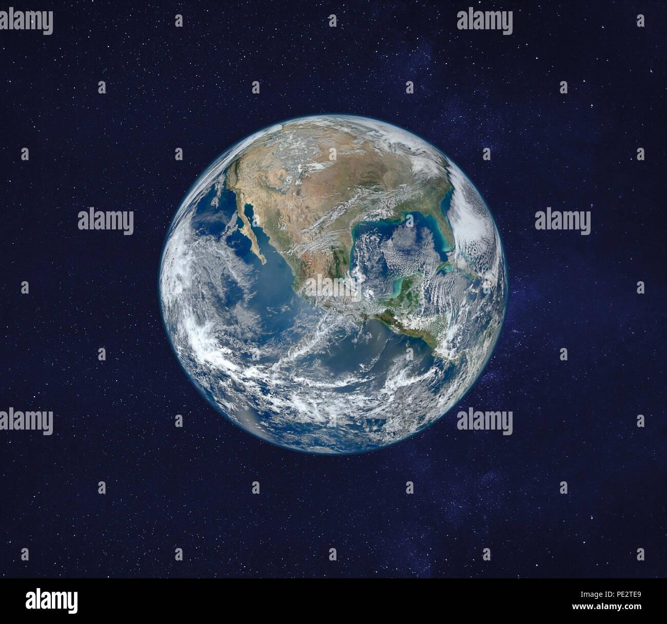 Ansicht der Erde aus dem Weltraum, original Bild von der NASA eingerichtet Stockfoto