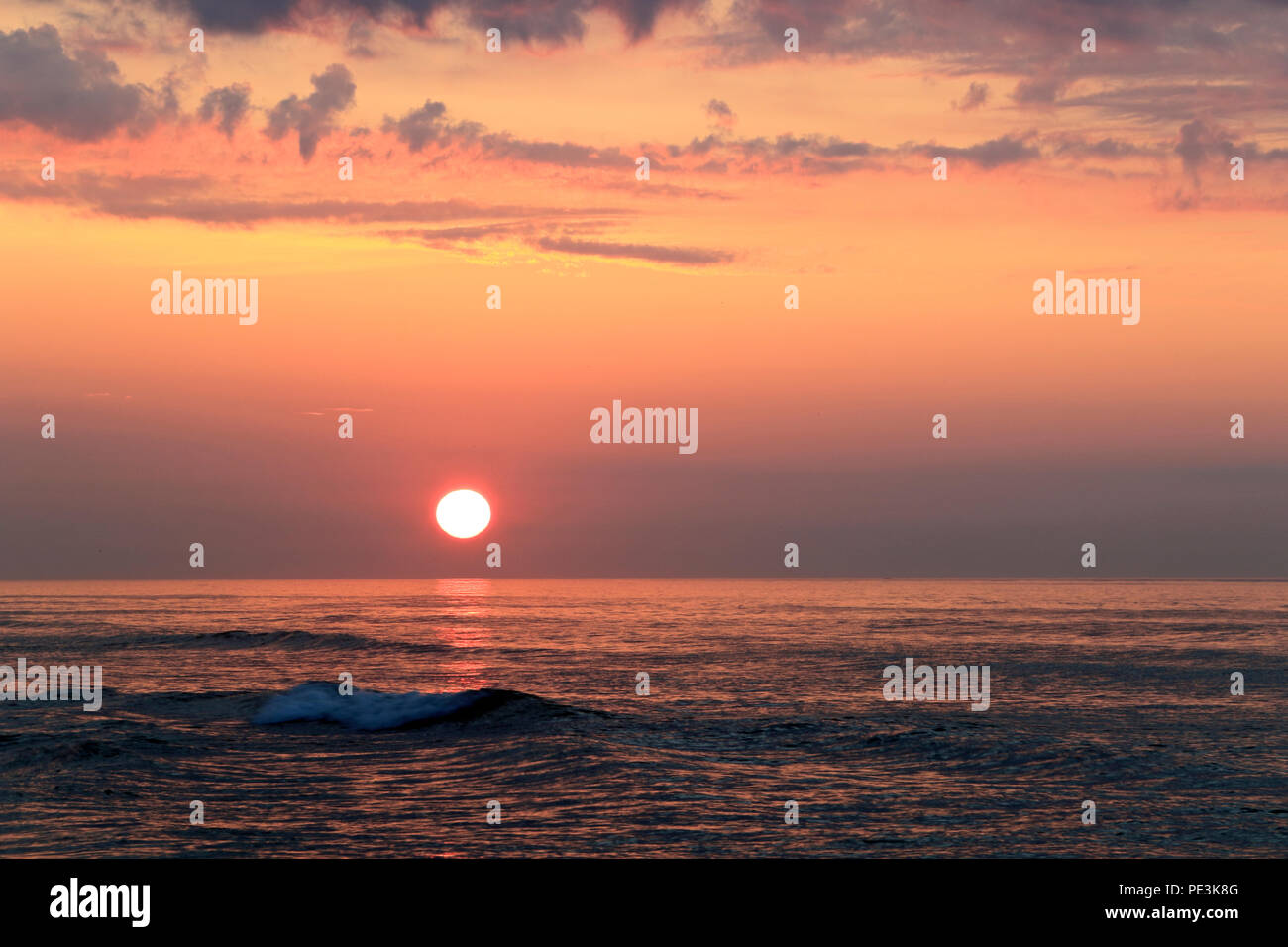 Sonnenaufgang in Wildwood, NewJersey, USA Stockbild