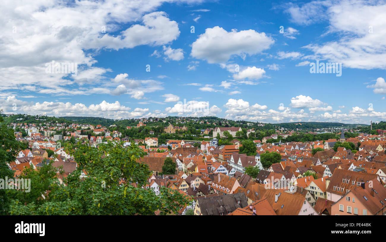 Deutschland, XXL Stadt Panorama auf die Dächer der Altstadt