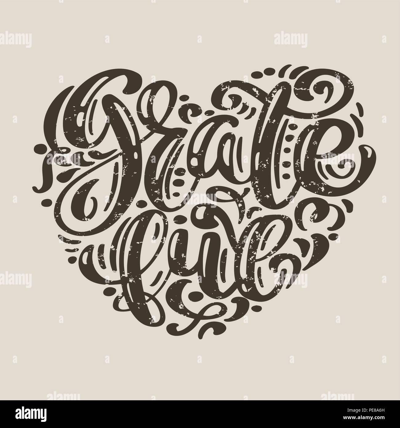 Hand Dankbar Typografie Poster Happy Thanksgiving Tag Gezeichnet