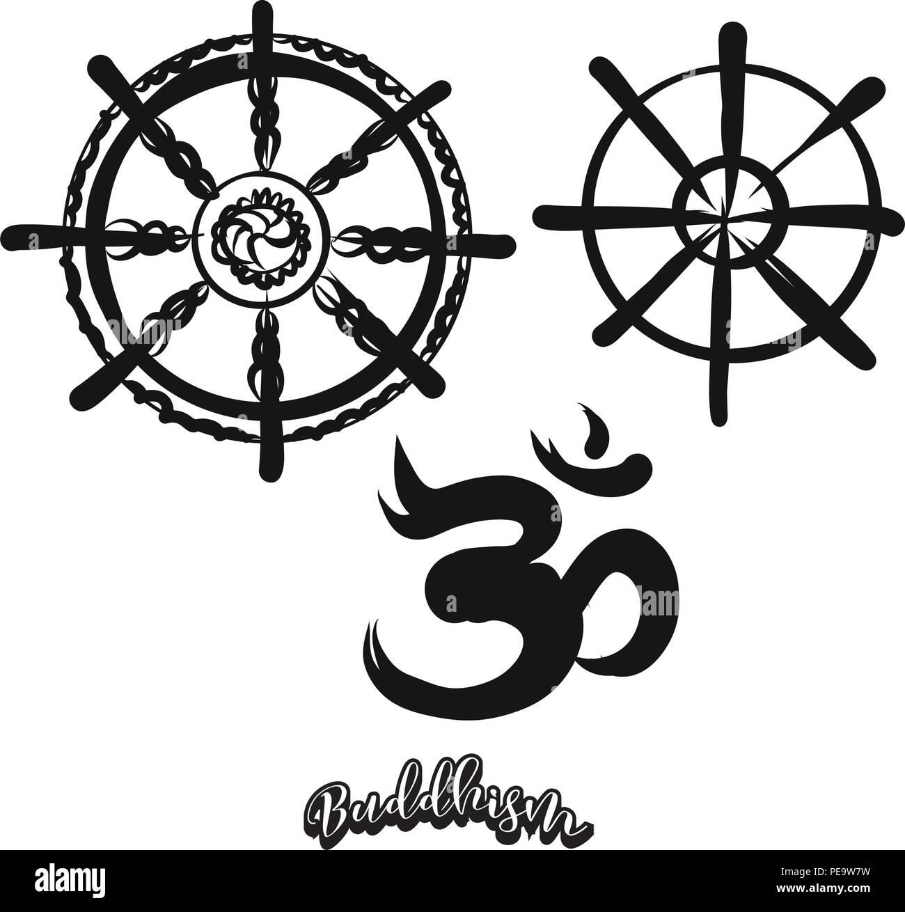 Buddhismus Symbole Stockfotos Buddhismus Symbole Bilder Alamy