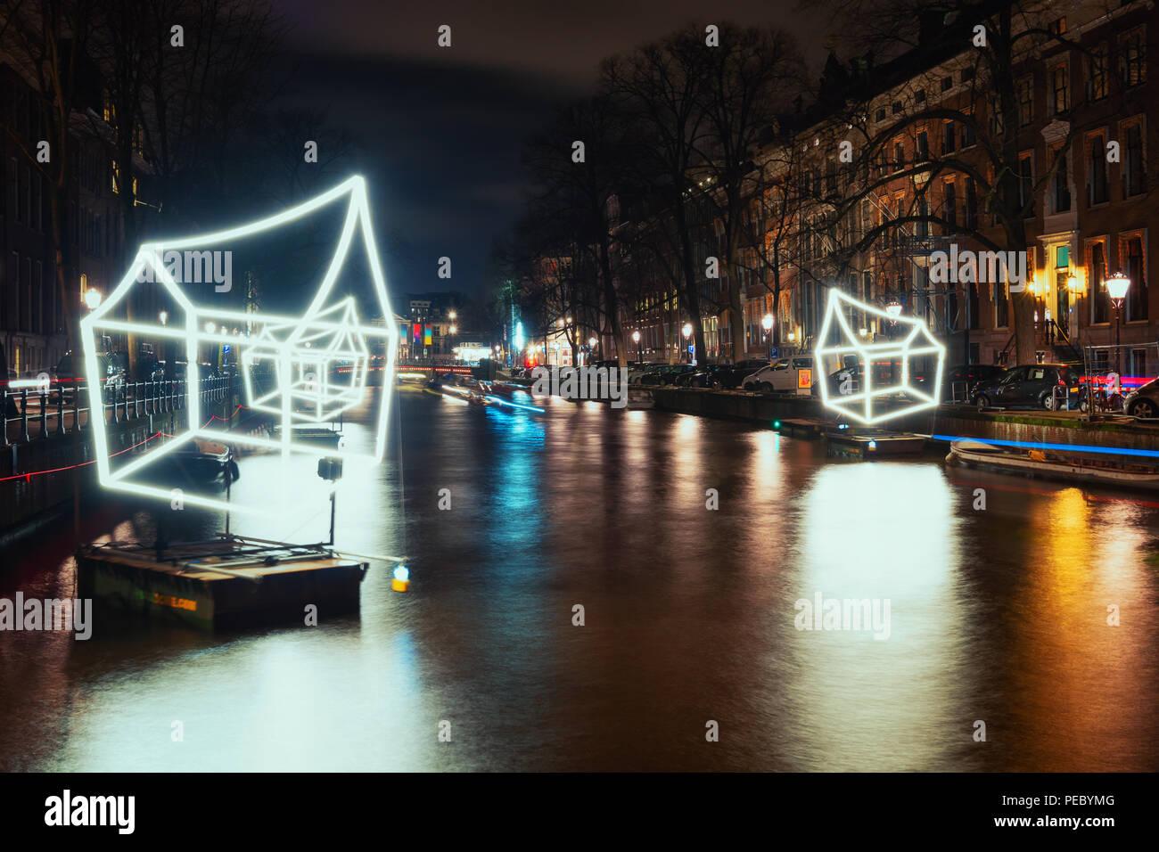Licht Tour Amsterdam : Amsterdam niederlande dezember cottages von licht