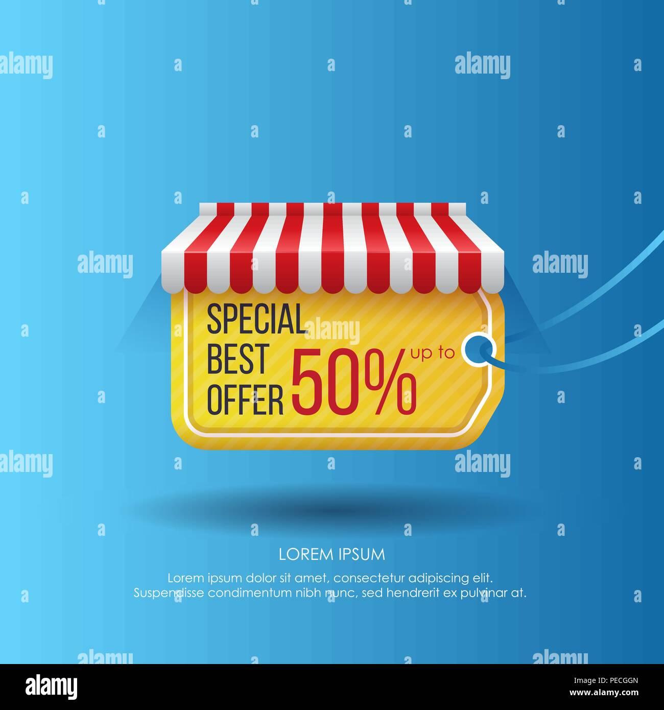 Kreative Moderne Gestaltung Von Werbung Mit Tag Anzeigen Das Beste