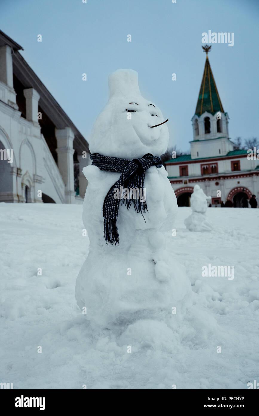 Schnee Lustige Bilder.Lustige Schneemann Winter Schnee Museum Kolomenskoye