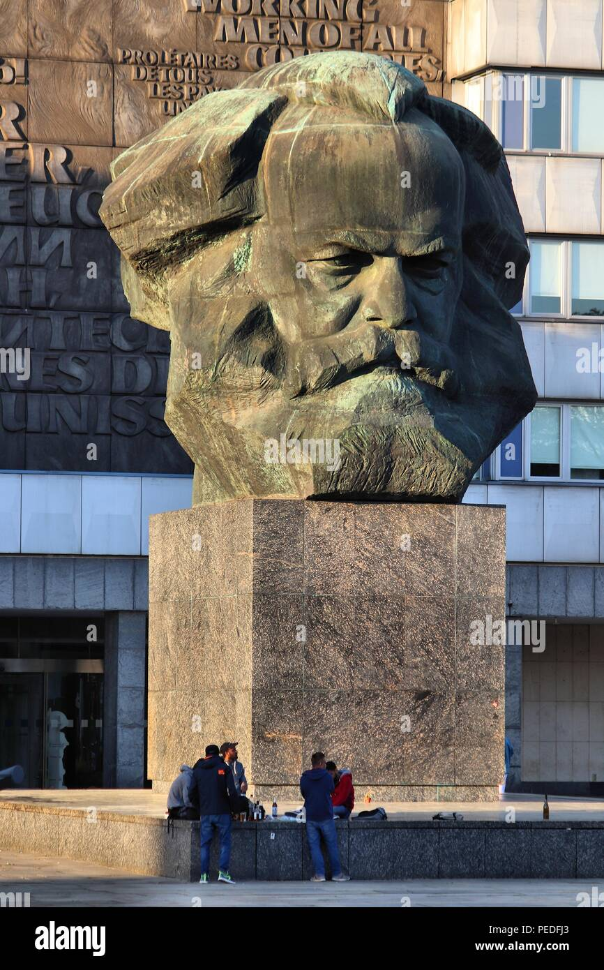 Chemnitz Deutschland Mai 8 2018 Karl Marx Monument In Chemnitz