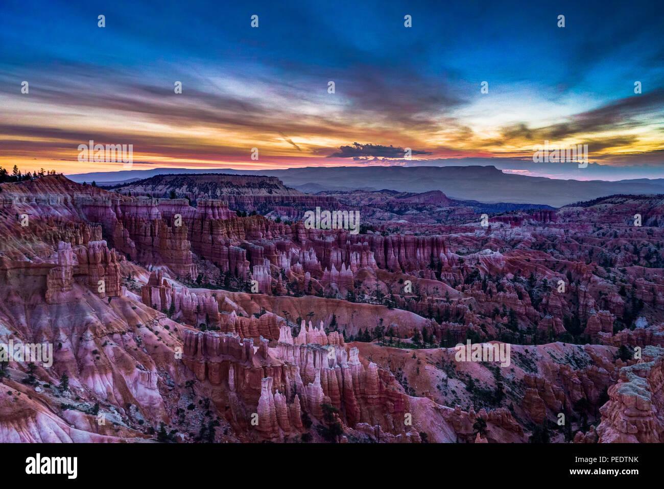 Foto bei Bryce Canyon in Utah, Vereinigte Staaten von Amerika übernommen. Stockbild