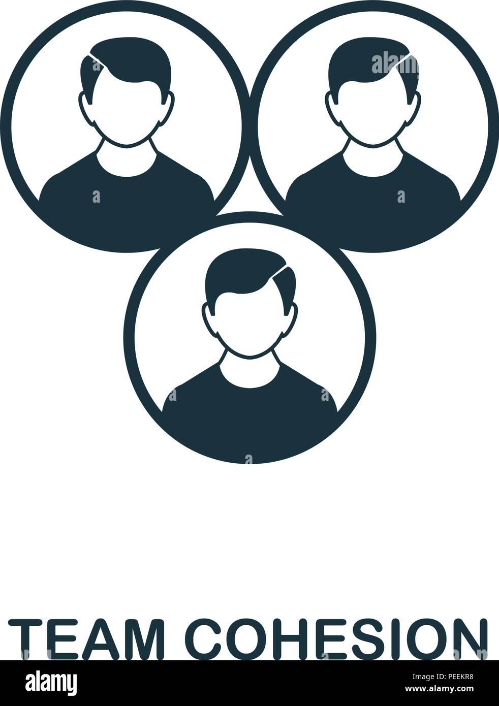 Team Zusammenhalt Kreative Symbol Einfaches Element Abbildung Team