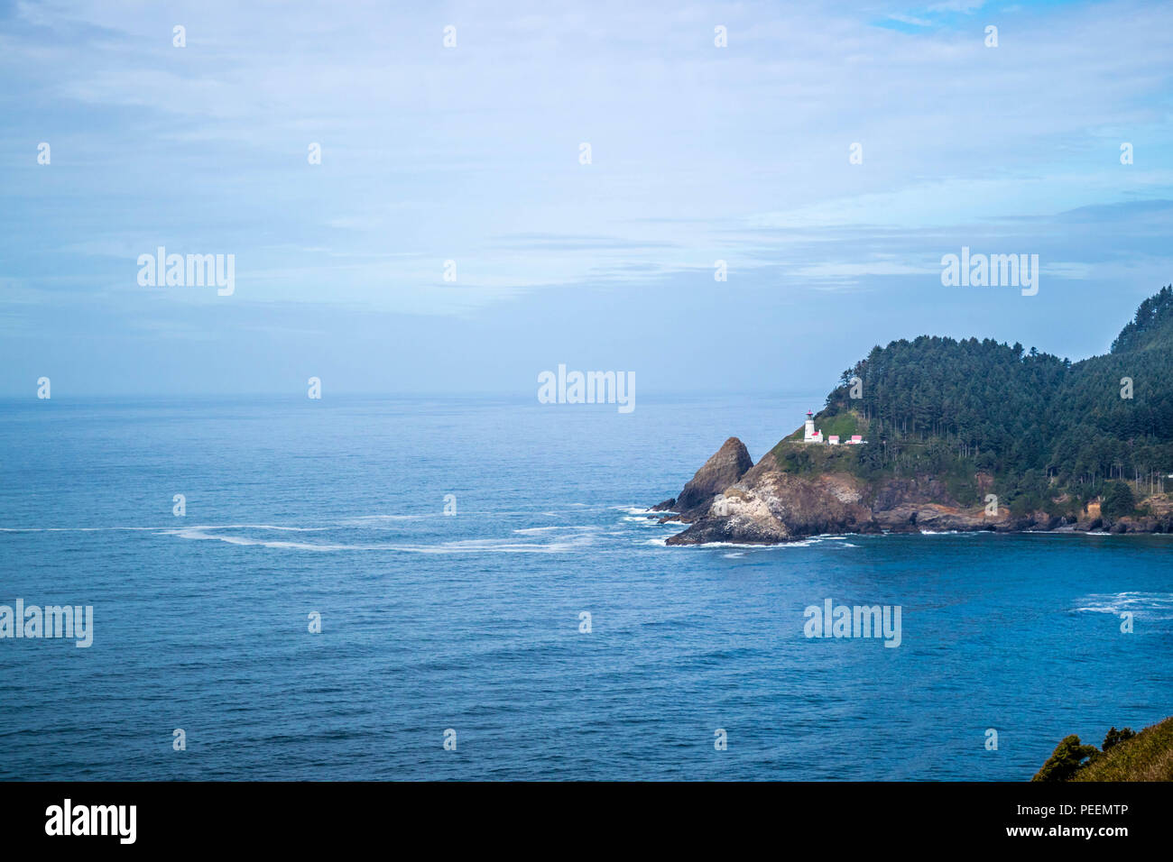 Heceta Head Lighthouse State Park malerische Sicht in Florence, Oregon Stockfoto