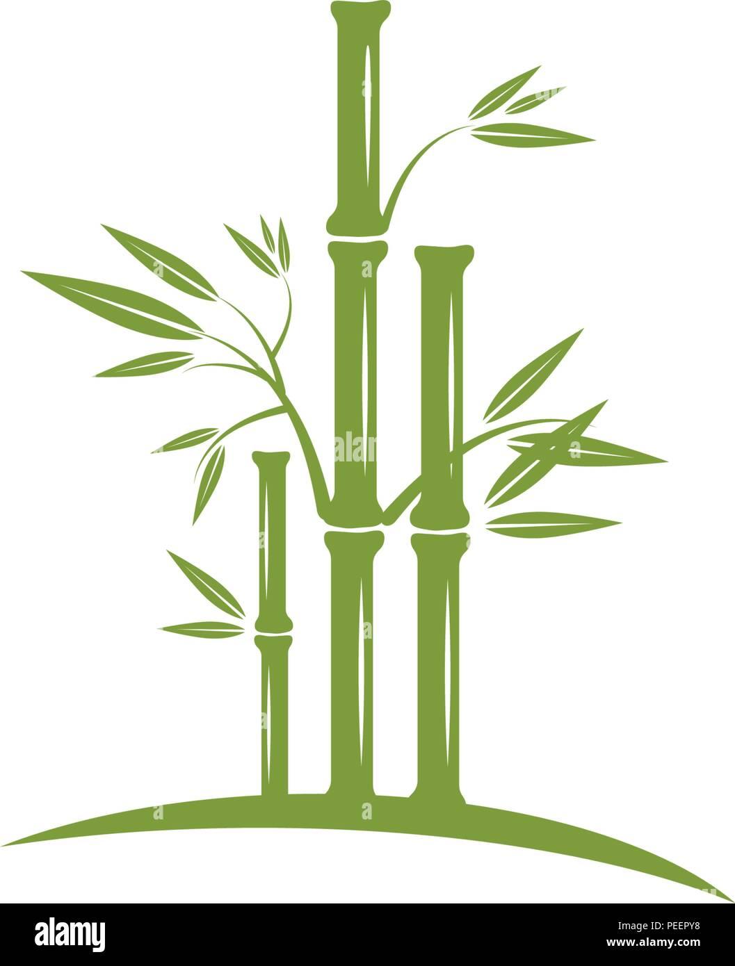 Bambus Logo Vorlage Vektor Icon Abbildung Design Vektor Abbildung