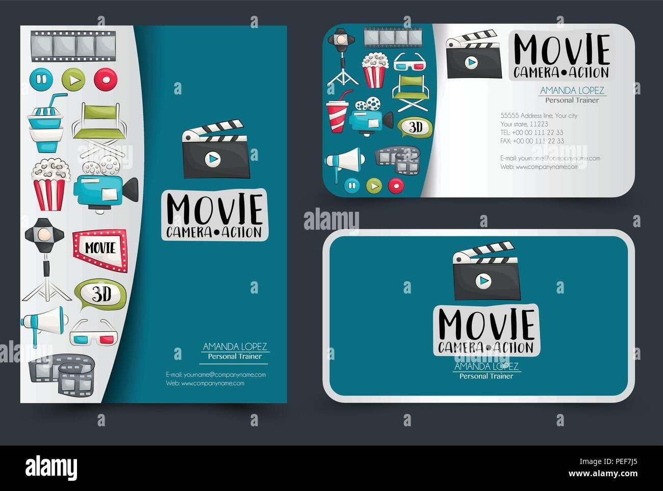 Film Kino Corporate Identity Design Flyer Und Visitenkarten