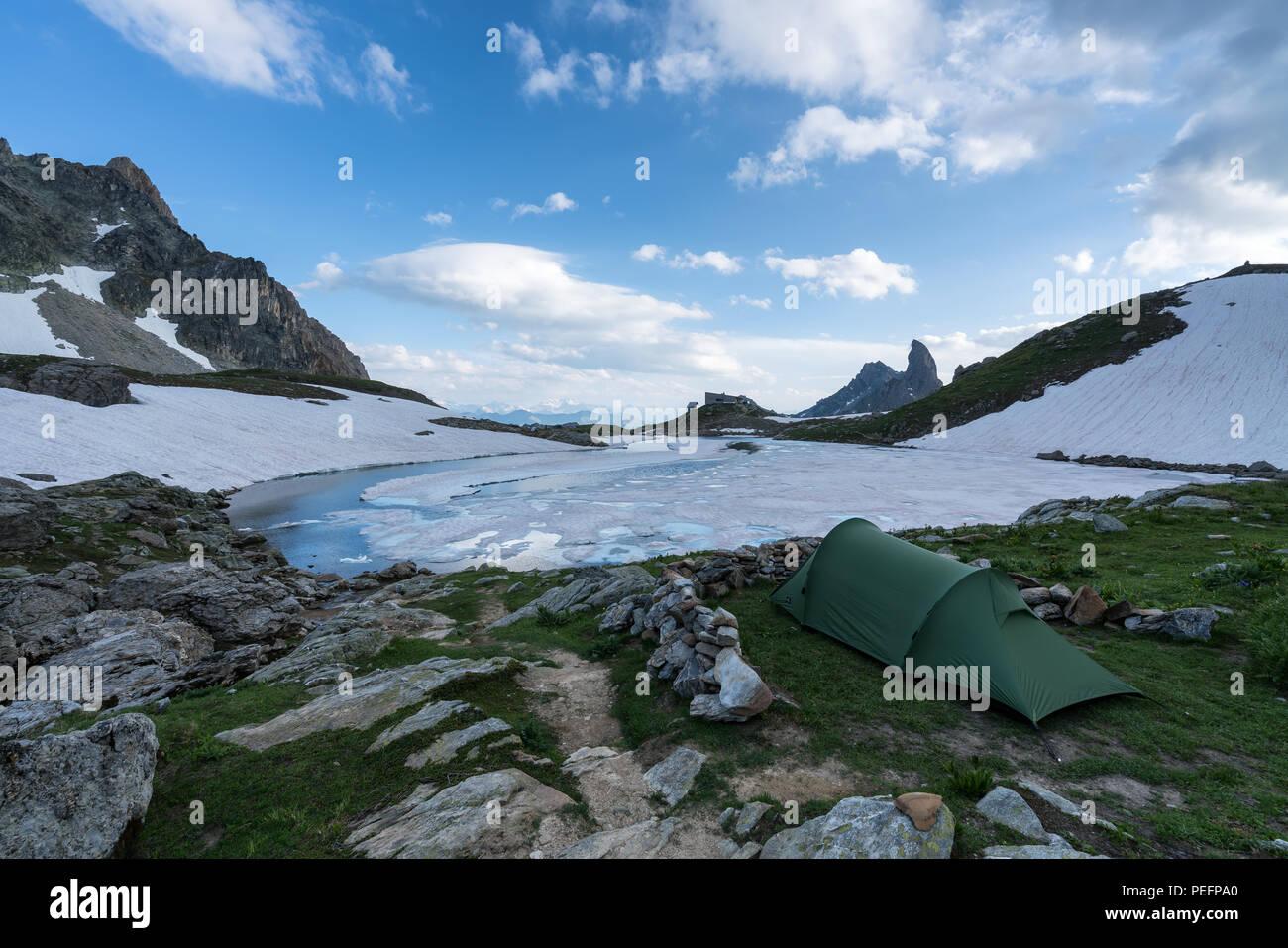 Am Lac de Presset See, Rhône-Alpes, Frankreich, Europa, EU Stockbild