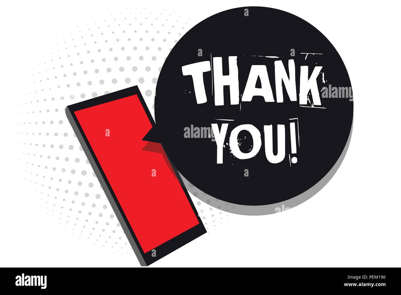 Wort Schreiben Sie Text Danken Business Konzept Für Wiedergabe Auf
