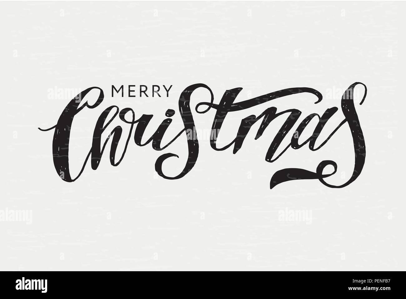 Schriftzug Frohe Weihnachten Zum Ausdrucken.Weihnachten Schrift Kalligraphie Pinsel Text Urlaub Vektor Aufkleber
