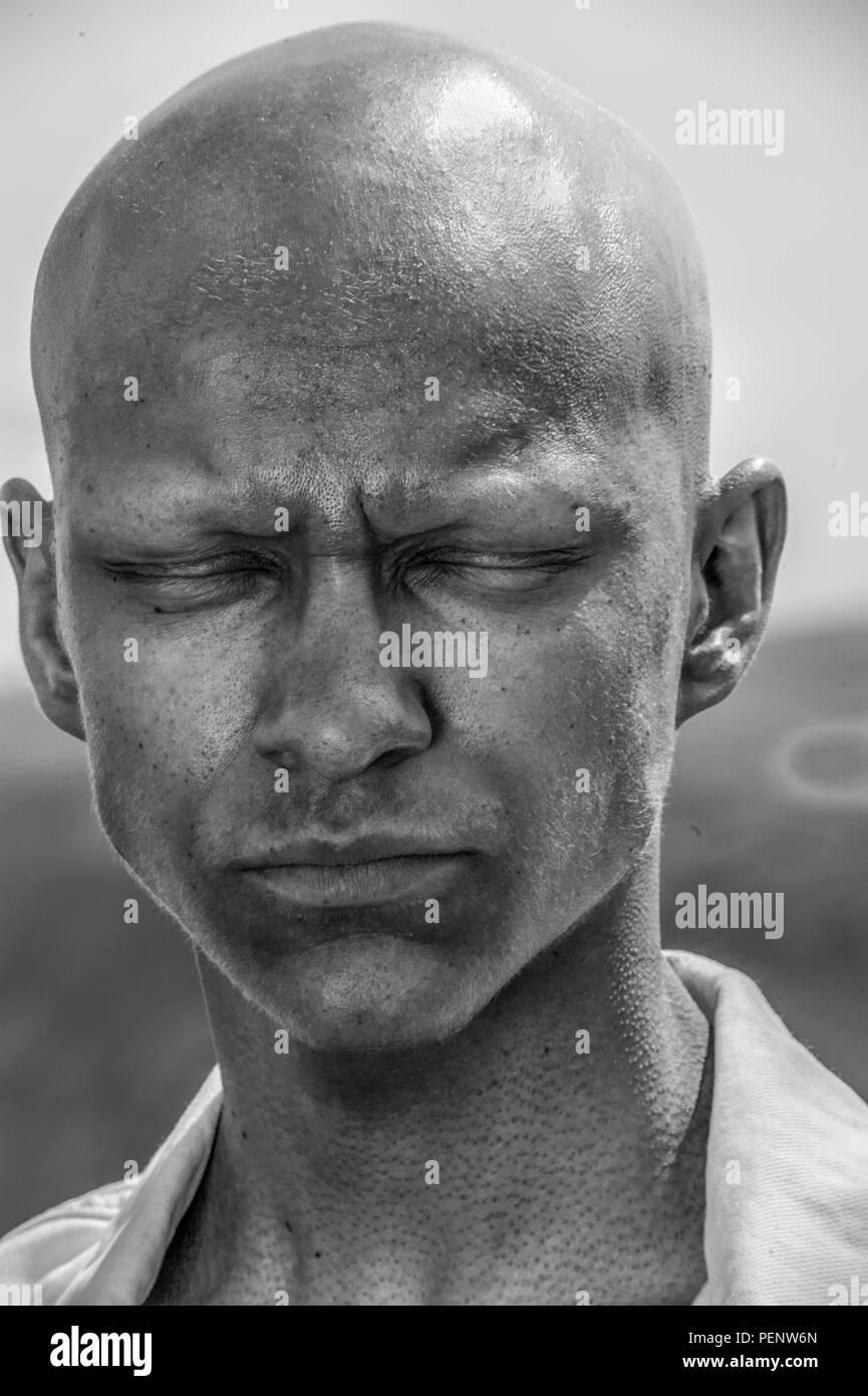 Emotionales Porträt des jungen Teenager Stockfoto