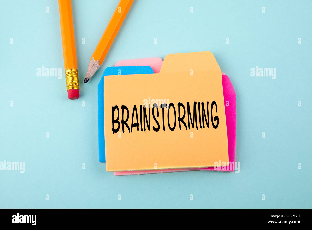 Brainstorming Business Konzept Stockbild