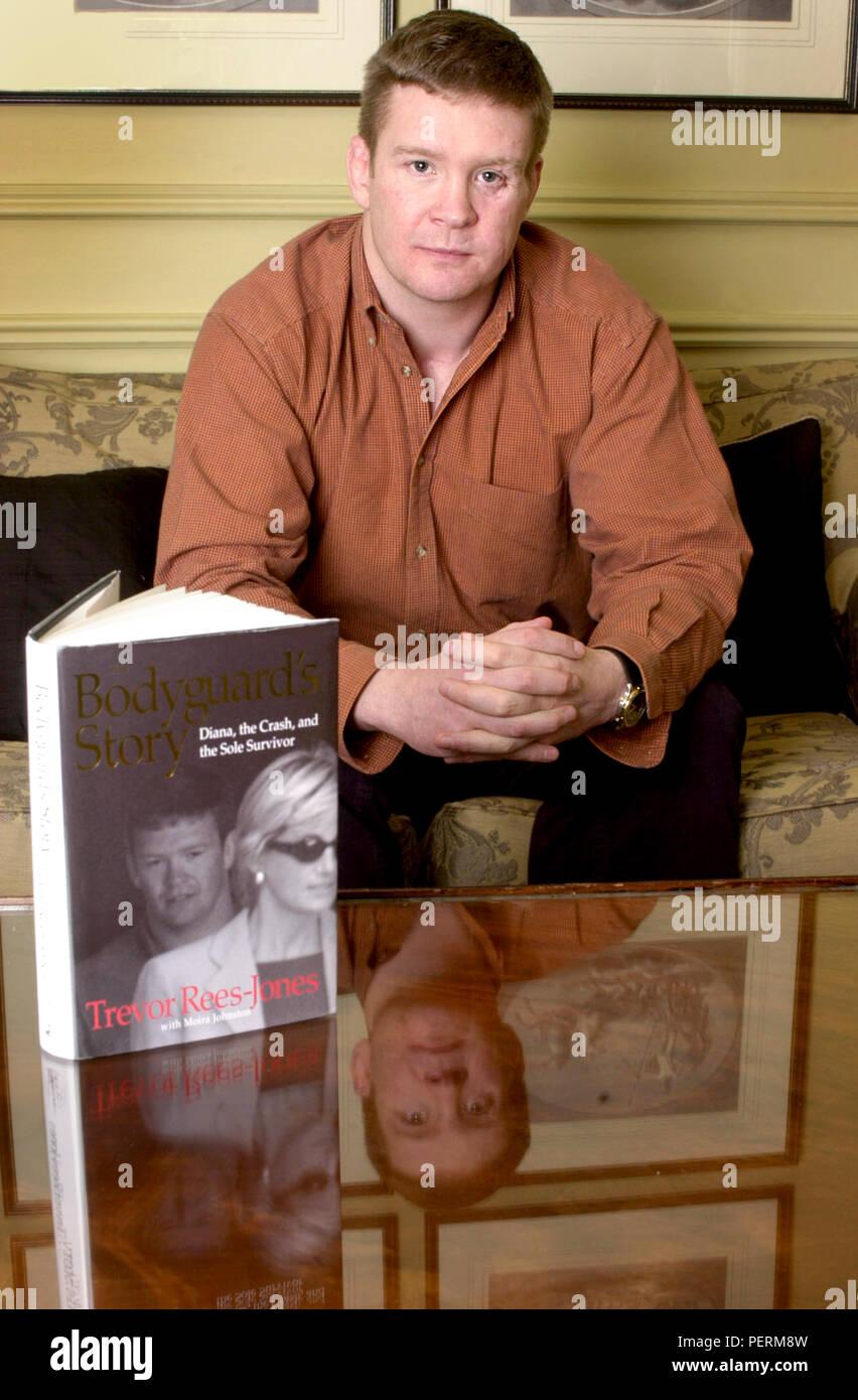 London, England, UK: März 13,2000. TREVOR REES-JONES der Bodyguard, der Autounfall in Paris, dass Prinzessin Diana getötet überlebt. Über seine Bo Stockbild