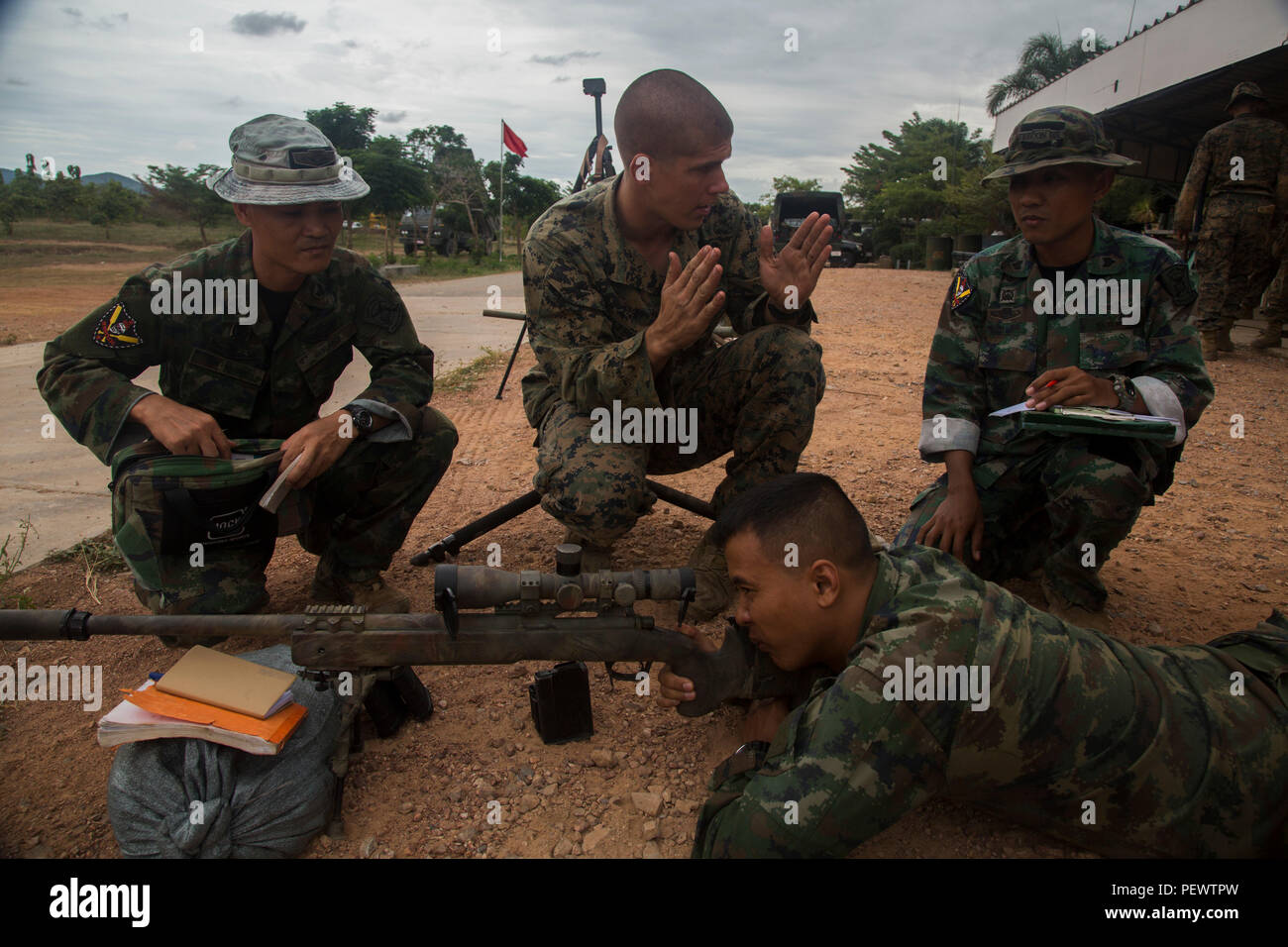 Us Marine Corps Sgt Curt Cebula Mitte Ein Scout Sniper 2nd