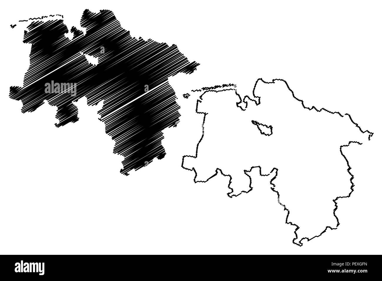 Niedersachsen Bundesrepublik Deutschland Land Deutschland Karte