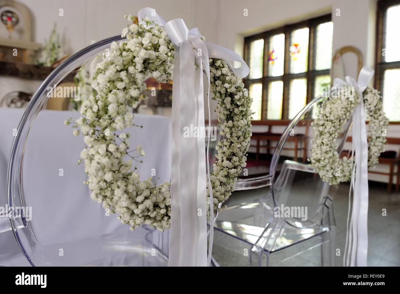 Feier Schonheit Hochzeit Kirche Blumen Zubereitungen Frische